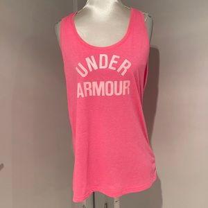 🧘♀️2/$30 UNDER ARMOUR Pink Tank top size Medium